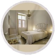 Round Beach Towel featuring the photograph Bedroom Apartment In The Heart Of Cadiz by Pablo Avanzini