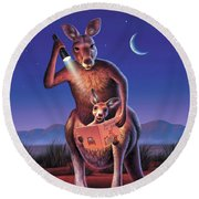 Bedtime For Joey Round Beach Towel