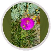 Round Beach Towel featuring the photograph Bee And Flower  by Jasna Gopic