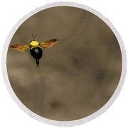 Bee Dance Round Beach Towel
