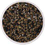 Bee Hive Round Beach Towel