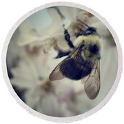 Bee Round Beach Towel