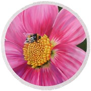 Bee-utiful 2 Round Beach Towel