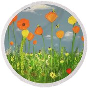 Bee-utiful Day Round Beach Towel