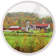 Beech Hill Farm Round Beach Towel