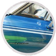 Beep Beep Hot Rod Round Beach Towel