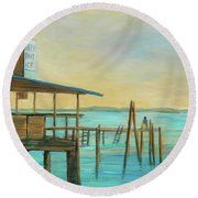 Beer Bait Ice Round Beach Towel