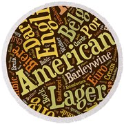 Beer Lover Cell Case Round Beach Towel