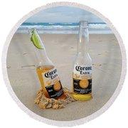 Beer O'clock Round Beach Towel