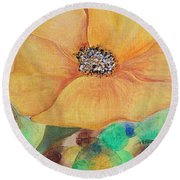 Bees Delight Round Beach Towel