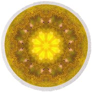 Bees Kaleidoscope Round Beach Towel