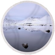 Round Beach Towel featuring the photograph Before Sunrise, Glencoe by Grant Glendinning