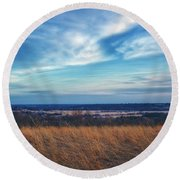 Before Sunset At Retzer Nature Center - Waukesha Round Beach Towel by Jennifer Rondinelli Reilly - Fine Art Photography