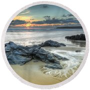 Before The Dusk Round Beach Towel