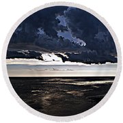 Before The Storm 1 Round Beach Towel