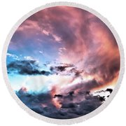 Before The Storm Avila Bay Round Beach Towel
