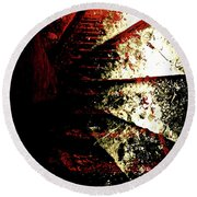 Round Beach Towel featuring the photograph Before You Go Upstairs by Danica Radman