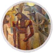 Beginnings. Gods Of Ancient Egypt Round Beach Towel