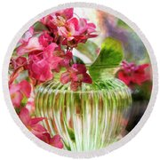 Begonia Art Round Beach Towel