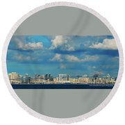 Behind The Bridge Round Beach Towel