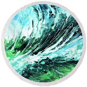 Behind The Curtain Round Beach Towel