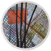 Behind The Fence Round Beach Towel