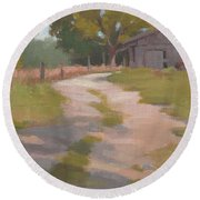 Behind The Shed Round Beach Towel