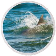 Behind The Wave Round Beach Towel