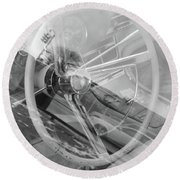 Behind The Wheel Round Beach Towel by John S