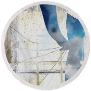 Behind The Window Round Beach Towel by Michal Boubin