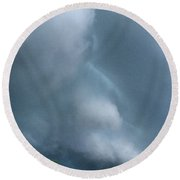 Behold He Cometh With Clouds Round Beach Towel
