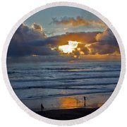 Behold And Shadow Round Beach Towel