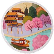 Beijing Summer Palace Round Beach Towel