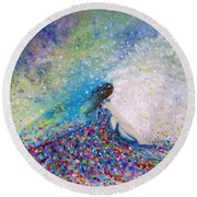 Being A Woman - #5 In A Daydream Round Beach Towel
