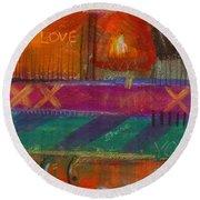 Being In Love Round Beach Towel by Angela L Walker