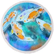 Being Koi Round Beach Towel