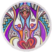 Being Silly Round Beach Towel