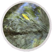 Round Beach Towel featuring the photograph Being Still by Marie Neder