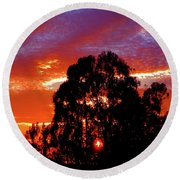 Being There Round Beach Towel