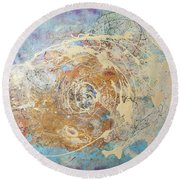Being Universe. From Chaos To Order Round Beach Towel
