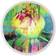 Being You Round Beach Towel