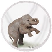 Being You Round Beach Towel by Phyllis Howard