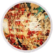 Beirut Funky Wall Art  Round Beach Towel by Funkpix Photo Hunter