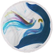 Beit Breathe And Meditate Round Beach Towel
