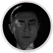 Bela Lugosi  Dracula 1931 And His Piercing Eyes Round Beach Towel