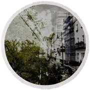 Belgravia Row Houses Round Beach Towel