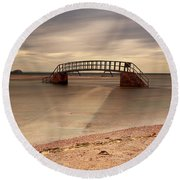 Belhaven Stairs And The Bass Round Beach Towel