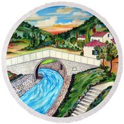 Beli Most Vranje Serbia Round Beach Towel