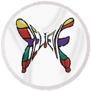 Believe-butterfly Round Beach Towel