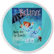 Believe Round Beach Towel